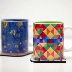 Inner Color Ceramic Cup,12oz