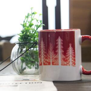 彩邊陶瓷杯, 12oz