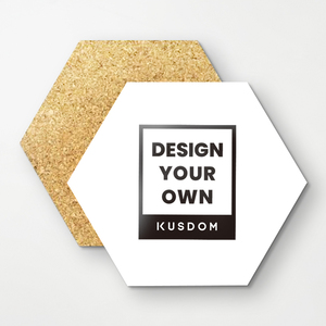 Hexagon Cork Coasters (4Pcs)