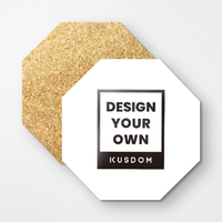 Octagon Cork Coasters (4Pcs)