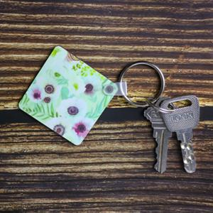 Square Shaped Keychain