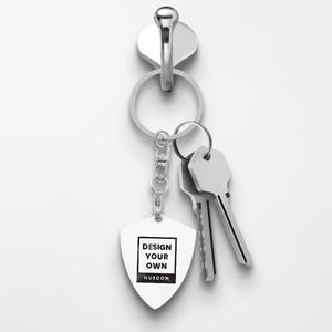 Shield Shaped Keychain