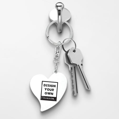 金属心形匙扣