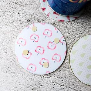 Round Glass Coasters (4Pcs)