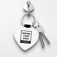 Leather Keychain - Heart