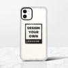 iPhone 11 Clear Bumper Case(Black aperture )