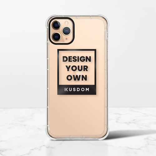 iPhone 11 Pro Max 透明防撞殼(黑邊鏡頭)