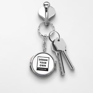 Compact Keychain Mirror - Round