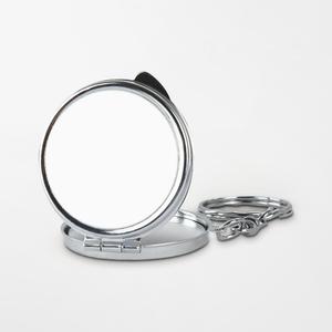 圆形鑰匙圈鏡盒
