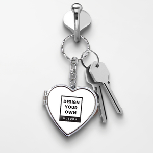 Compact Keychain Mirror - Heart