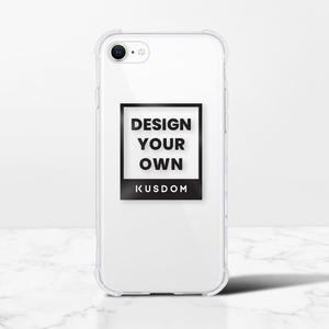 iPhone SE透明クラッシュシェル(2020スティールガラスハードモデル)
