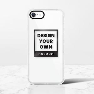 iPhone SE 클리어 범퍼 케이스 (2020 검은 색 조리개)