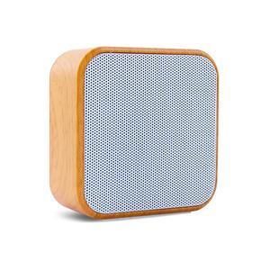Bluetooth Speaker (Square Wood Grain Texture)