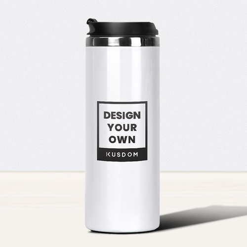 Double Wall Stainless Steel Thermal Tumbler, 15oz