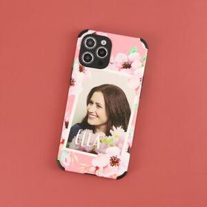 iPhone 12 mini 皮紋矽膠殼