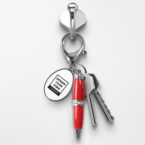 Ballpoint Pen Keychain - Oval