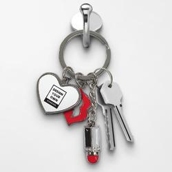 Lips with Lipstick Keychain - Heart