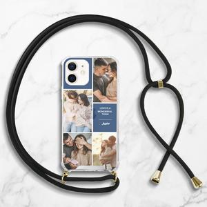 iPhone 12 Mini Clear Acrylic Hard Case with Lanyard