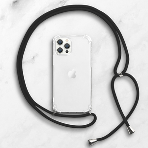 iPhone 12 Pro Max Clear TPU Soft Case with Lanyard