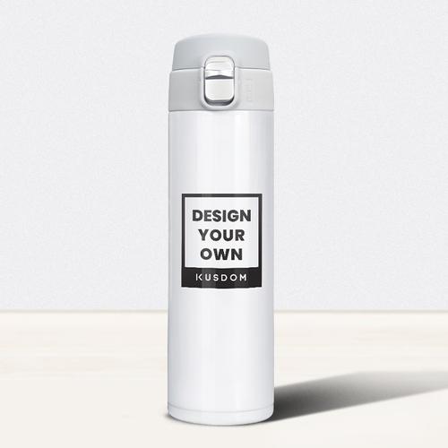 Push-button Flip Lid Vacuum Cup, 17oz