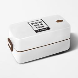 日式雙層搭扣餐盒