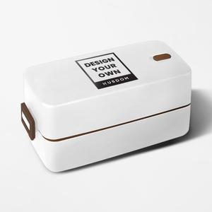 日式双层搭扣饭盒