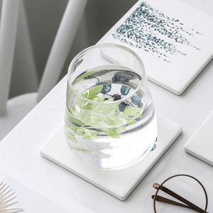 Square Ceramic Water-absorbing Coasters(4Pcs)