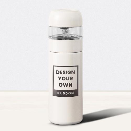 Creative Thermal Tumbler with Transparent Tea Strainer, 10oz