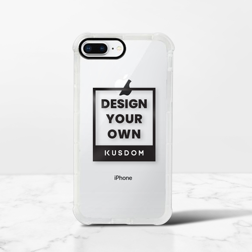 iPhone 8 Plus 透明防撞壳(黑边镜头)