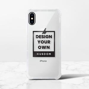 iPhone Xs Max Clear Bumper Case(Black aperture )