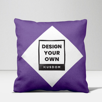 "Diamond Framed Throw Pillow 16""x16"""