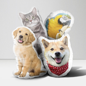 Plush pet throw pillow