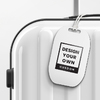 Wooden Luggage Tag - Round