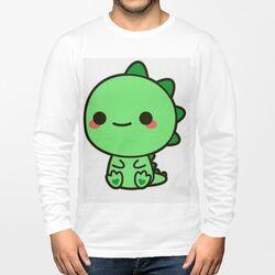 cute男装棉质圆领长袖T恤