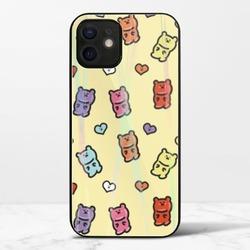 小熊軟糖熊(黃色)iPhone 12 極光鋼化玻璃殼