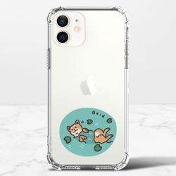 Q玩水柴犬iPhone 12 mini 透明防撞殼(TPU軟款)