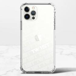 滿版LOGO(白)-iPhone 12 Pro 透明防撞殼(TPU軟款)