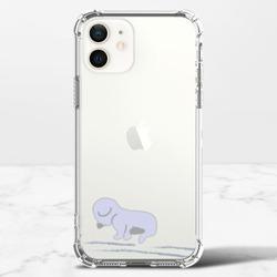 Bichon's Monday BlueiPhone 12 mini 透明防撞殼(TPU軟款)