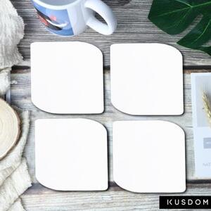 Leaf Shaped Cork Coasters (4Pcs)