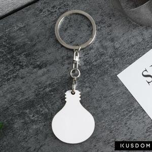 灯泡形匙扣