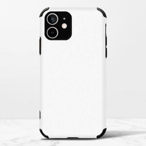 iPhone 12 皮紋矽膠殼