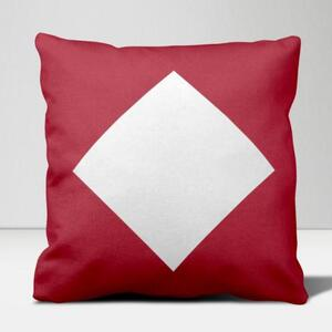 "Diamond Framed Throw Pillow 16""x16"""