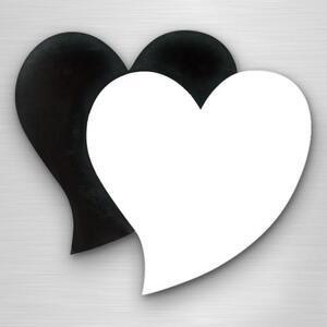 心形磁石贴