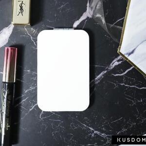圓角形皮紋鏡盒