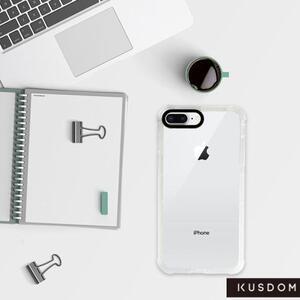 iPhone 8 Plus Clear Bumper Case(Black aperture )