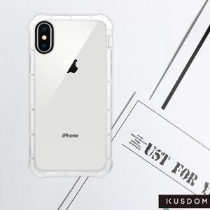 iPhone X Clear Bumper Case(Black aperture )