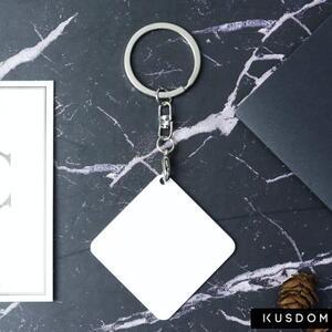 金属方形匙扣