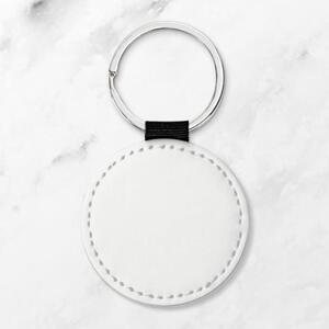 Leather Round Keychain