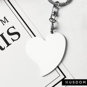 Heart-Shaped Metal Keychain