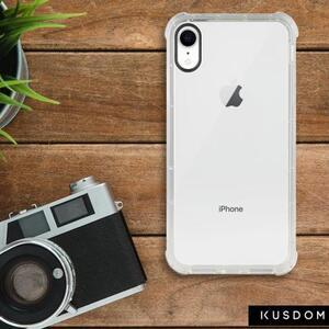 iPhone Xr Clear Bumper Case(Black aperture )